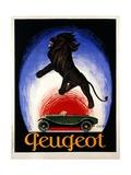 Poster Advertising Peugeot, 1925 Giclee-trykk av Leonetto Cappiello
