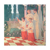 Exaltation of the Holy Cross and the Glorification of the Mass, 1899 Reproduction procédé giclée par Maurice Denis