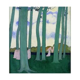 The Beeches at Kerdual, 1892 Giclée-tryk af Maurice Denis