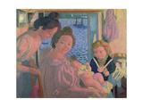 Maternity at Pouldu, Evening, C. 1899 Reproduction procédé giclée par Maurice Denis