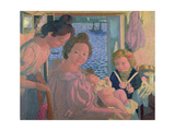 Maternity at Pouldu, Evening, C. 1899 Giclee Print by Maurice Denis