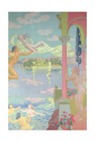 Zephyr Carries Psyche to the Island of Bliss, 1908 Giclee Print by Maurice Denis