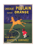 Advertisement for Chocolat Poulain Papier Orange, C. 1910 Giclée-vedos tekijänä Leonetto Cappiello