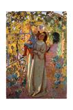 Mother and Child under the Vine, Mere et Enfant sous la Vigne Giclee Print by Maurice Denis