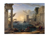 Seaport with the Embarkation of the Queen of Sheba Giclee Print by Claude Lorraine