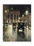 The Brandenburg Gate, Berlin, Germany, at Night Giclee Print by  Lesser Ury