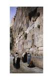 The Wailing Wall Giclee Print by Gustav Bauernfeind