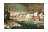 Vinter Giclée-tryk af Abel Grimmer