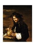Self-Portrait Giclée-tryk af Salvator Rosa