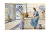 Two Women of Ancient Greece Filling their Water Jugs at a Fountain (Women of Corinth) Giclee Print by Henry Ryland