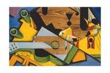 Still Life with a Guitar Giclee-trykk av Juan Gris