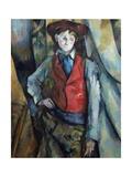 Le garçon au gilet rouge Reproduction procédé giclée par Paul Cézanne