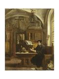 Martin Luther Translating the Bible, Wartburg Castle, 1521 Giclée-tryk af Eugene Siberdt