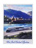 New York Central System, the New Empire State Express Poster Giclee Print by Leslie Ragan