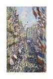 The Rue Montorgueil in Paris, Celebration of June 30, 1878 Reproduction procédé giclée par Claude Monet