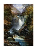The Waterfall Giclee Print by Clarence Roe