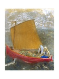 La Voile Jaune (The Yellow Sail) Giclee Print by Odilon Redon