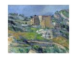 Houses in Provence: the Riaux Valley Near L'Estaque Lámina giclée por Paul Cézanne