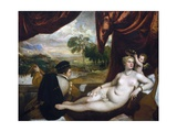 Venus and the Lute Player Giclée-tryk af  Titian (Tiziano Vecelli)
