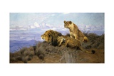 On the Lookout Giclee Print by Wilhelm Kuhnert
