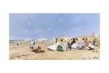A Sociable Afternoon on the Beach Giclee Print by Frederik Hendrik Kaemmerer