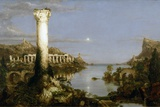 The Course of Empire - Desolation Giclée-tryk af Thomas Cole