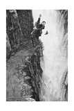 Illustration of the Death of Sherlock Holmes Giclée-Druck von Sidney Paget