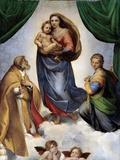 The Sistine Madonna Reproduction procédé giclée par  Raphael