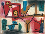 Uebermut (Arrogance) Giclee-trykk av Paul Klee