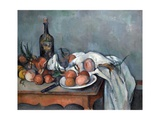 Nature Morte Aux Oignons (Still Life with Onions) Reproduction procédé giclée par Paul Cézanne