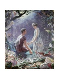 Hermia and Lysander Giclee Print by John Simmons