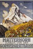 Matterhorn Travel Poster by Francois Gos Reproduction procédé giclée par Francois Gos