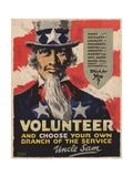 Volunteer Recruitment Poster Giclee Print by Arthur N. Edrop