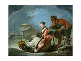 The Four Seasons: Winter Reproduction procédé giclée par Francois Boucher