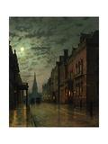 Park Row, Leeds, England Giclée-Druck von John Atkinson Grimshaw