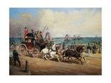 The Arrival of the Royal Mail, Brighton, England Stampa giclée di John Charles Maggs