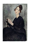 Portrait of Dedie (Odette Hayden) Giclee Print by Amedeo Modigliani