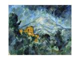 Mont Sainte-Victoire and Château Noir Giclée-vedos tekijänä Paul Cézanne