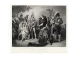 Spaniards and Peruvians Lámina giclée por William Greatbach