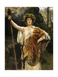 A Priestess of Bacchus Gicléedruk van John Collier