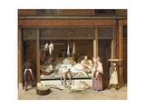 The Fish Shop Giclee Print by Jacques-Laurent Agasse
