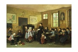In the Schoolroom Giclee Print by Theophile Emmanuel Duverger