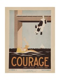 Character Culture Citizenship Guides Original Poster, Courage Giclée-Druck