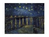 La Nuit Etoilée (Starry Night) Giclee-trykk av Vincent van Gogh