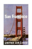 San Francisco United Airlines Poster Giclee Print by Stan Galli
