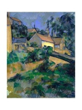 La Route Tournante À Montgeroult (Turning Road at Montgeroult) Reproduction procédé giclée par Paul Cézanne