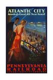 Atlantic City Pennsylvania Railroad Poster Reproduction procédé giclée
