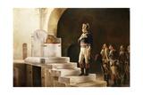 Napoleon at Charlemagne's Throne '98 Lámina giclée por Henri-Paul Motte