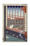 Asakusa Ricefields and Torinomachi Festival Giclee Print by Ando Hiroshige