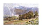 Balmoral Castle and Lochnagar Giclée-tryk af Ebenezer Wake Cook